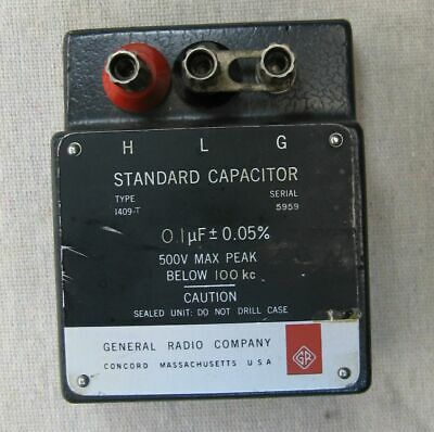 General Radio Standard Capacitor Model 1409-t