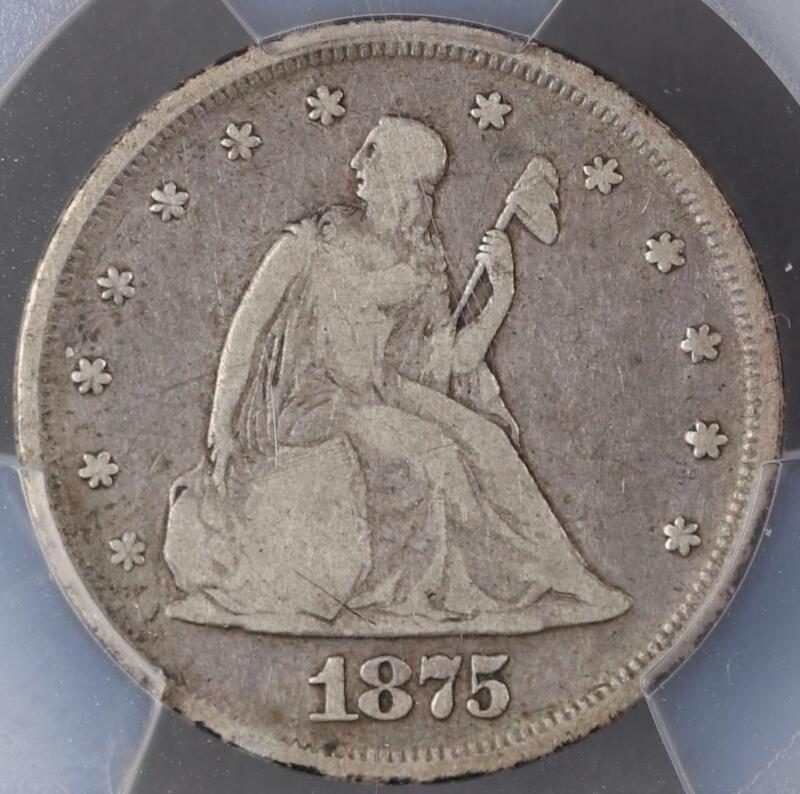 1875 Twenty Cent Silver Piece PCGS F 12 Low Ball -  *DoubleJCoins* 3007-83