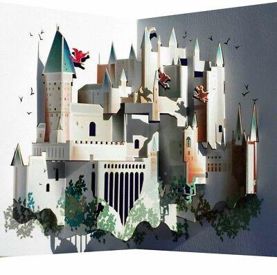 Pop Up 3D Karte Hogwarts Grusskarte Geburtstag Berühmtes Schloß 16x11cm