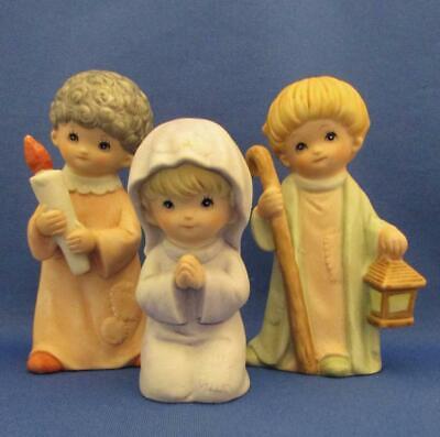 Vintage HOMCO Set of 3 Nativity Hand Painted Porcelain Figurines
