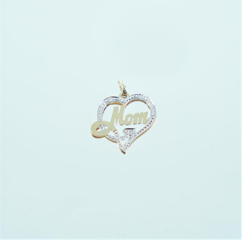 14kt Yellow Gold Diamond Heart Mom Pendant 990059615
