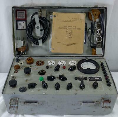 Excellent Tv-7bu Tube Tester Made By Hickok With Adapters Works Great