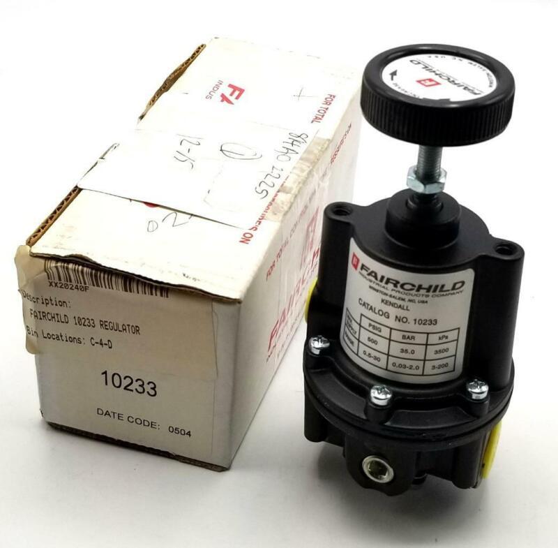 Fairchild 10233 Precision Pressure Regulator 500PSI Range .5-30PSI