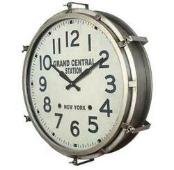 Large Industrial Metal Wall Clock - Grand Central Station - 26 Diameter