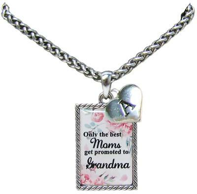 Custom Only the Best Moms Get Promoted to Grandma Necklace Jewelry