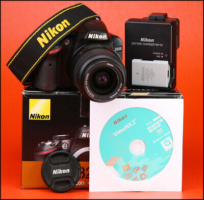 Nikon D3200 DSLR Camera + Nikon 18-55mm II Zoom Lens kit + Box, Battery/Charger