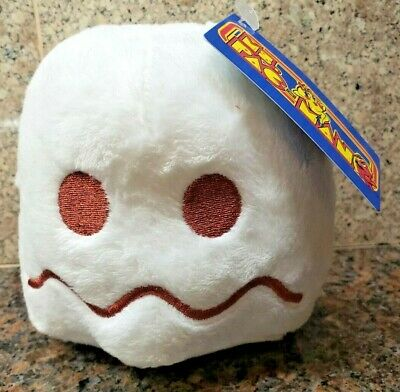 NEW Ms Pac-Man White Ghost Plush Toy Factory Stuffed Doll Figure Pacman Arcade