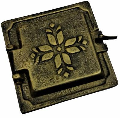Cast Iron Fire Door Clay Bread Oven Pizza Stove Quality OLD Gold (KB) 14, x 14cm