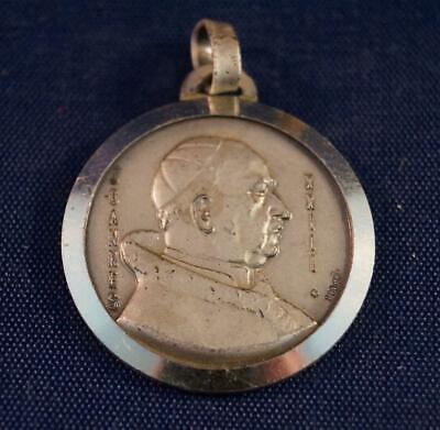 Vintage Religious Joannes XXIII Medallion Pendant