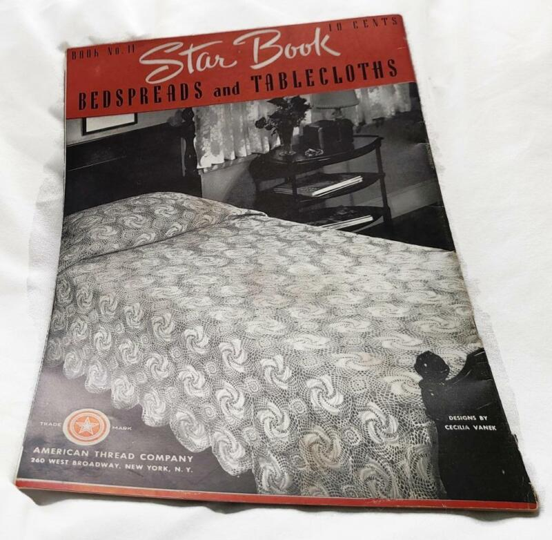 Vtg Bedspreads and Tablecloths Patterns Book Star American Thread Retro No 11