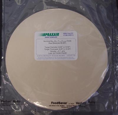 Praxair Speciality Ceramics Target Ba-sr-ti-y Oxide 99.99 8x0.25 New 3130