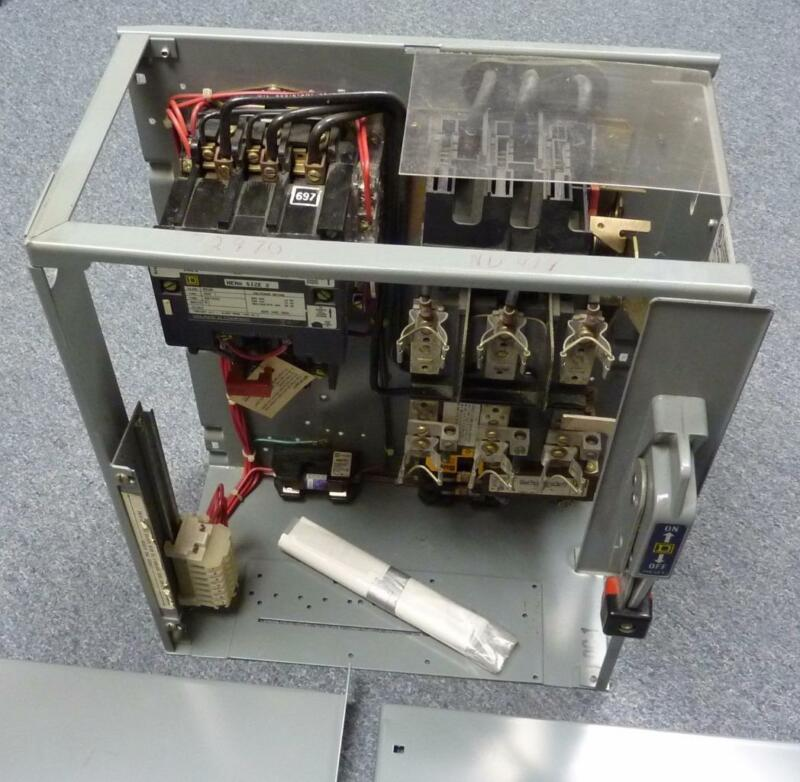 SQUARE D 8998 NC414 MCC Fusible Starter Bucket, Switch, Starter & Tranformer