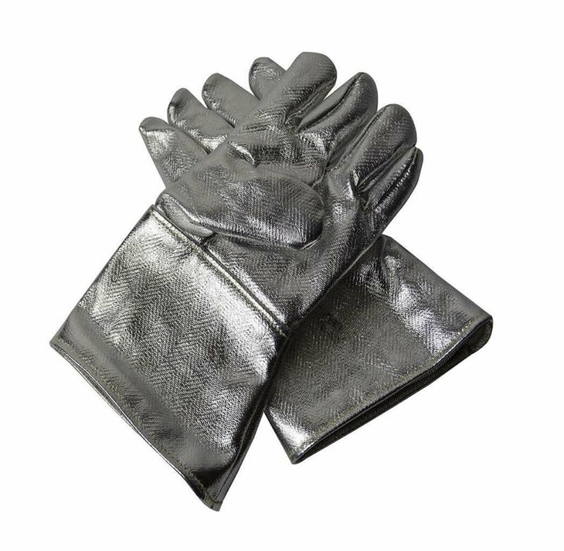 """18"""" Aluminized CarbonGloves Metal Melt Refine Cast Safety Gear made with Kevlar"""