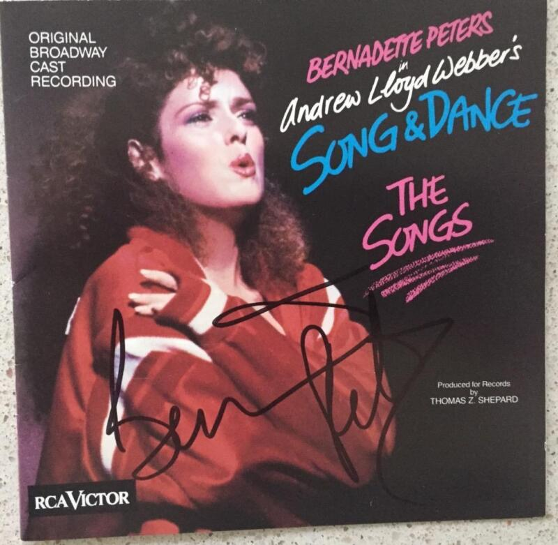 Bernadette Peters (Only) Signed CD  Andrew Lloyd Webber's Song & Dance The Songs