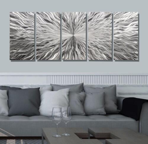 Statements2000 Metal Wall Art Abstract Silver Black Red Modern Panels Jon Allen