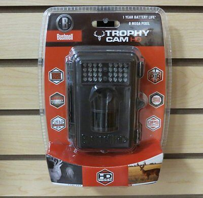 New 2014 Bushnell Trophy Cam 8MP HD Video Scouting Game Stealth Camera 119537C