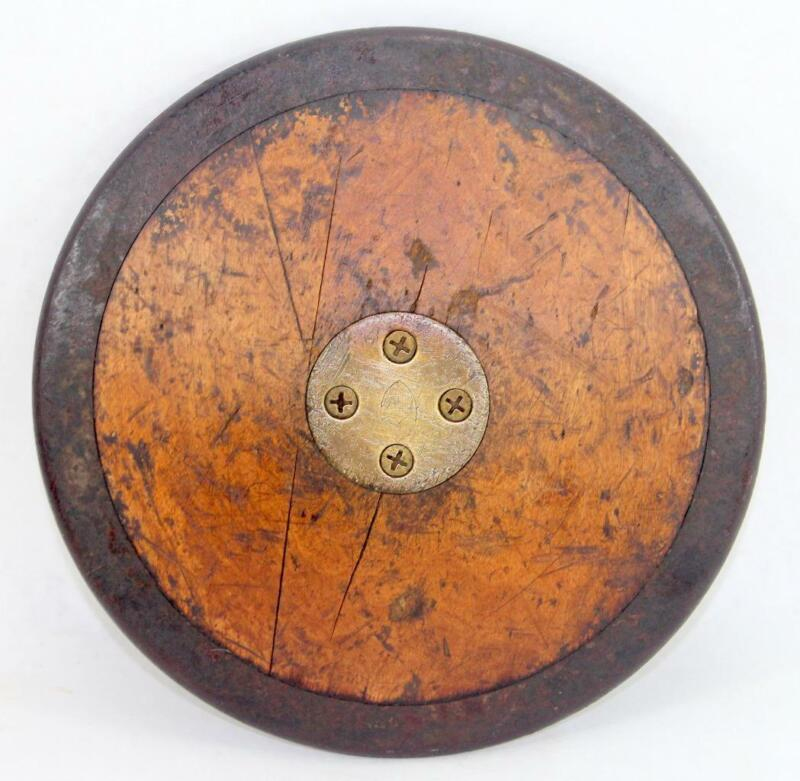 Vintage Gill Wood & Iron Discus
