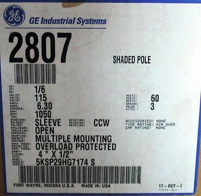 Ge Motor 346 16 Hp 1050 Rpm 115 Volt Ccw 5ksp29hg7174s  Tn-45