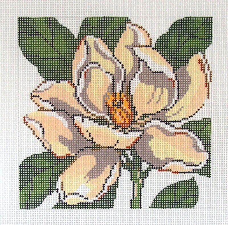 *New* LEE MAGNOLIA Flower Series handpainted Needlepoint Canvas on 12 Mesh