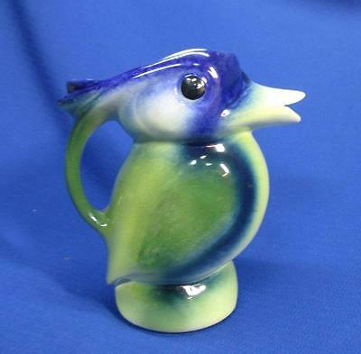 CZECHSLOVAKIAN ART POTTERY TUCAN BIRD PITCHER 1930.S