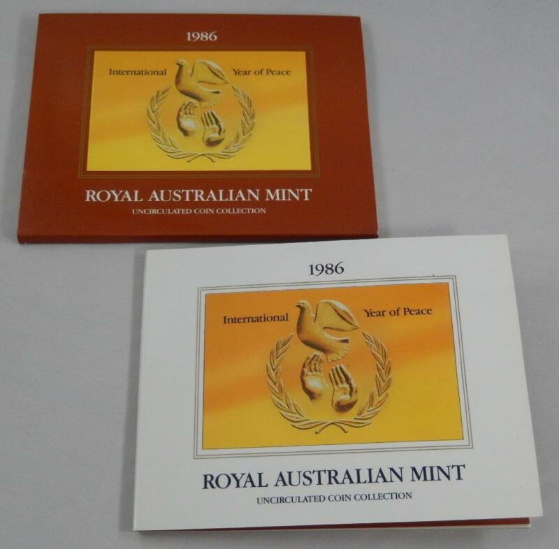 Australia 1986 7 Coin Gem BU Mint Set CB523