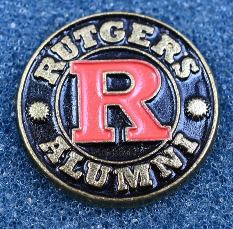 Rutgers Alumni Black Red Lapel Pin New Jersey College University Scarlet Knights