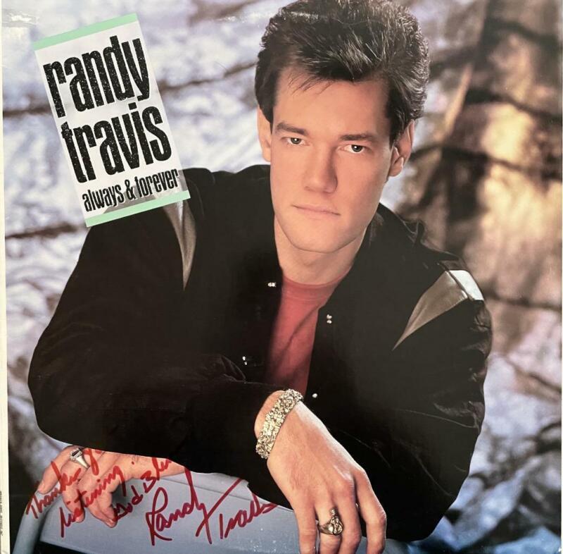 "RANDY TRAVIS HAND SIGNED AUTOGRAPH LP ALBUM ""ALWAYS & FOREVER"""