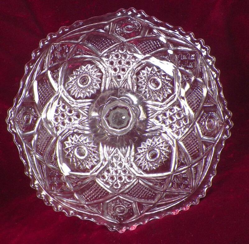 Omnibus Toy Cake Stand US Glass 15124 Early American Pattern Clear Antique