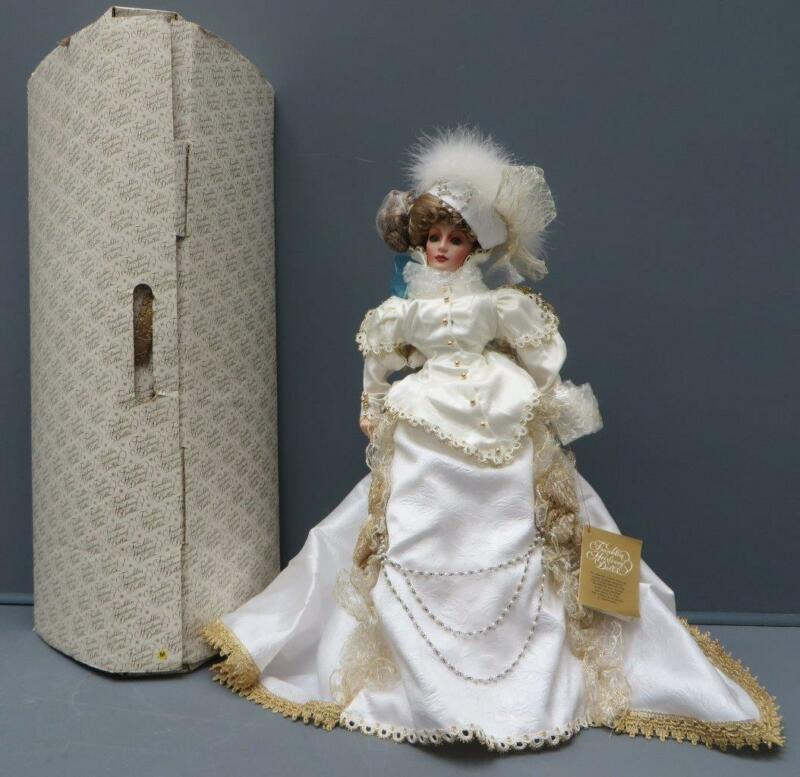 "Franklin Heirloom Gwendolyn Gibson Girl Victorian Christmas Doll 22"" NIB"