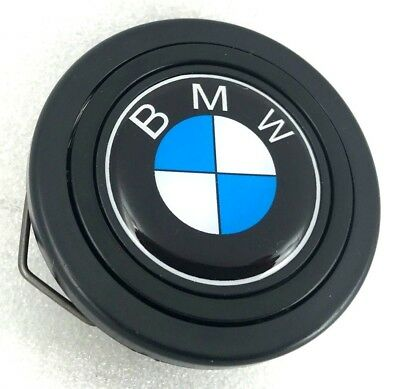 BMW logo steering wheel horn push button. Fits Momo Sparco OMP Italvolanti etc