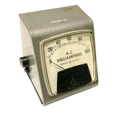 General Electric Ge Type A0-91 A-c Milliamperes Meter 0-100 Ma