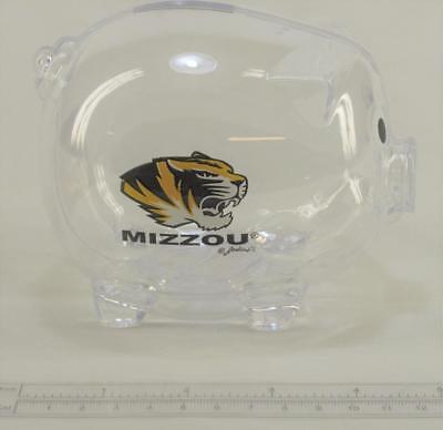 Clear Plastic Piggy Bank (NCAA Missouri Tigers Clear Plastic Piggy Bank MIZZOU)