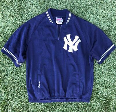 VTG 90s Majestic Diamond Collection Yankees Baseball Warm Up Jersey Jacket M