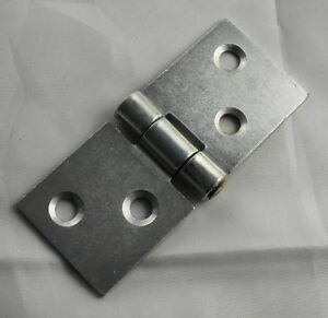 PAIR OF ZINC PLATED BACKFLAP HINGES 25mm