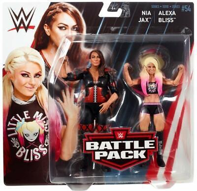 Mattel-WWE Wrestling - Battlepack Series 54 - Nia Jax and Alexa Bliss brand new