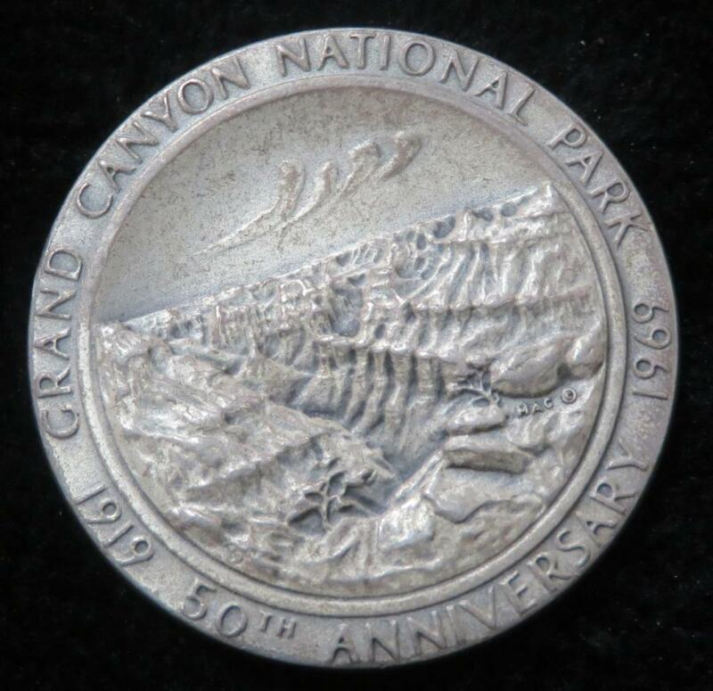 1919-1969 50th Anniversary of the Grand Canyon National Park Medal* Arizona Seal
