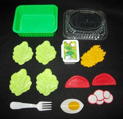 Vintage 1988 Fisher Price Fun With Food MCDONALD'S GARDEN SALAD #2163 ~ Complete