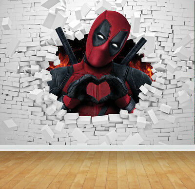 Deadpool Bespoke Wallpaper Backdrop Wall Mural Feature Wall Decal Large Print - Dead Pool Wallpaper