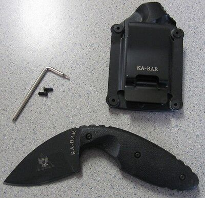 NEW Ka-Bar 1480 TDI Law Enforcement Backup Knife & Sheath Clip 02-1480 021480 for sale  Cresco