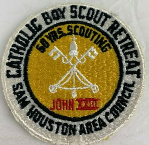 BSA 1960 Catholic Retreat 50 Yrs. Scouting Sam Houston Area Council John XXIII