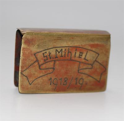 alter Streichholzhalter Grabenkunst 1.WK Saint St. Mihiel 1918  #F173
