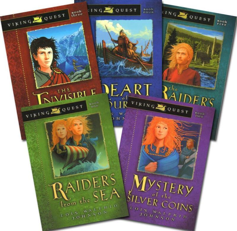 New VIKING QUEST Series Lois Walfrid Johnson Complete Set 5 Books 1 2 3 4 5
