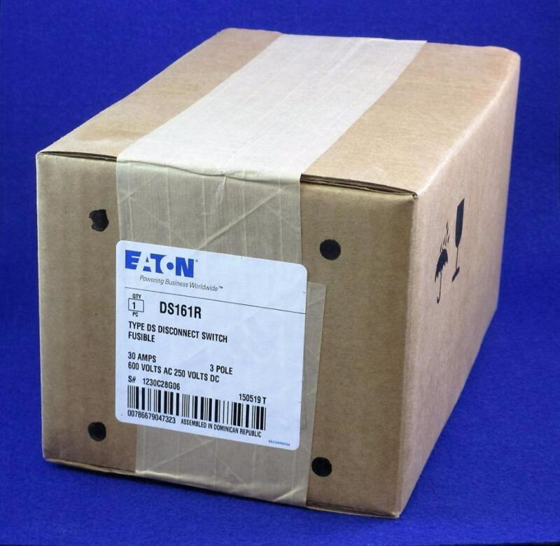 EATON Cutler-Hammer DS161R Type DS Fusible 3 Pole Disconnect Switch 30 AMPS