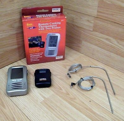 Maverick (ET-7) Remote Check Wireless Cooking Thermometer With Two Probes *READ* (Check Et 7 Wireless Thermometer)