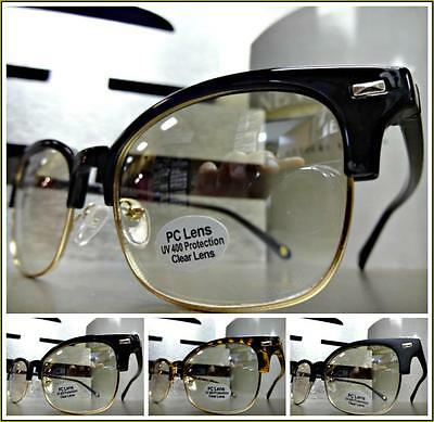 CLASSIC VINTAGE 50s RETRO Style SUN GLASSES Clear Lens Slight Tint Fashion Frame](50s Style Glasses)
