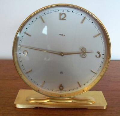 """vINTAGE IMHOF SWISS BRASS MANTLE CLOCK 8 DAY 15 JEWELS 7"""" x 6.5"""""""