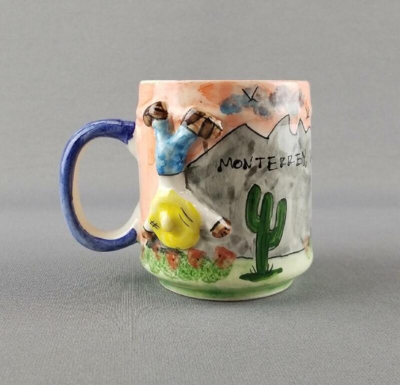 Monterrey Nuevo Leon NL Mexico Cerro de la Silla Pottery Souvenir Coffee Mug Cup