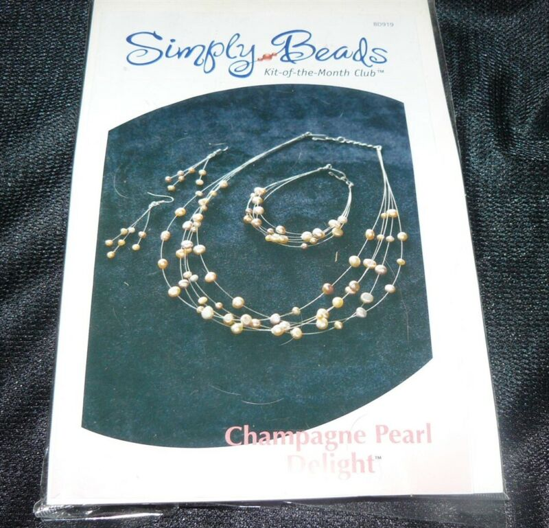 Simply Beads Kit of the Month Club Champagne Pearl Delight Necklace BD919R New