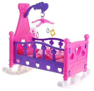 Wiegen Möbel (Puppenwiege Puppenzubehör Puppenbett Puppe Spielzeug Puppenmöbel NEU)