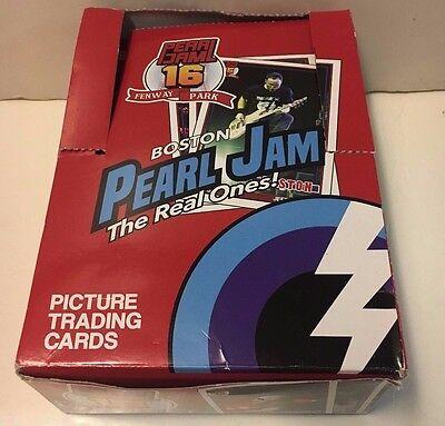 Pearl Jam Fenway Park 2016 48 Packs Trading Cards Box Unopened Packs